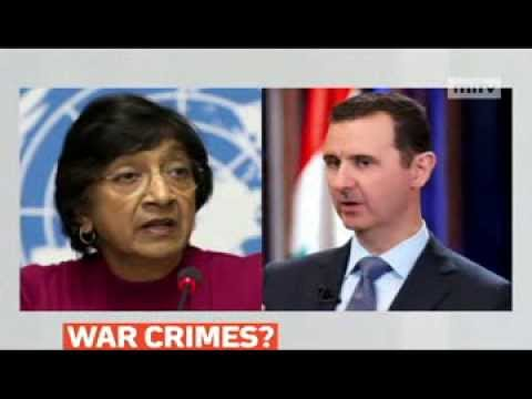 mitv - UN human rights chief Navi Pillay said evidence has been uncovered in Syria