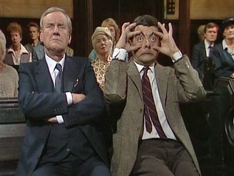 Mr Bean - Asleep in Church, OFFICIAL MR BEAN. Mr Bean goes to church. Unfortunately he doesn't know the words to the hymns, sneezes loudly and falls asleep out of boredom, much to the a...