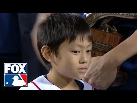 Hình ảnh trong video Koji Uehara's son gives adorable interview