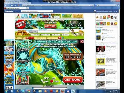 Social Empires Shock Savage Dragon Hack 2013 (Using Cheat Engine)