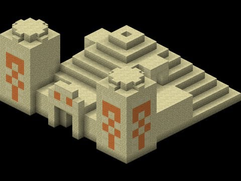 Minecraft Desert Temple Blueprints Youtube
