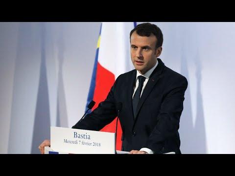 فرنسا: ماكرون يكشف من باستيا عن إستراتيجيته بشأن كورسيكا