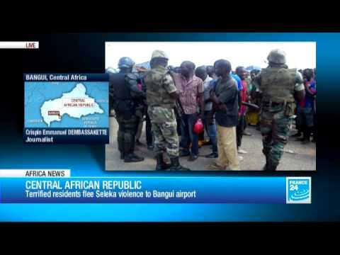 Africa news - Bangui citizens seek safety at airport