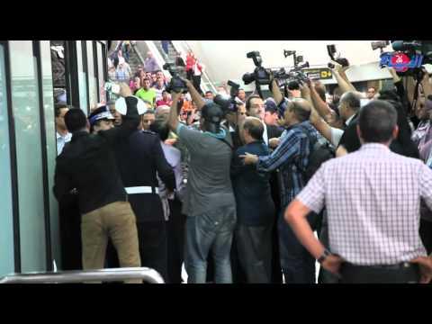 بالفيديو: استقبال أسطوري للبطل محمد الربيعي
