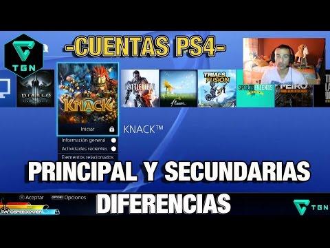 Cuenta Principal y Secundaria PS4 diferencias