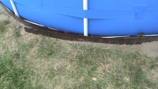 I've Erected A Swimming Pool $299 Intex 15x48 Metal Frame
