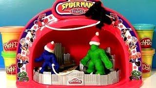 Palco De Show Play-Doh Make N Display Spiderman Hulk Stage