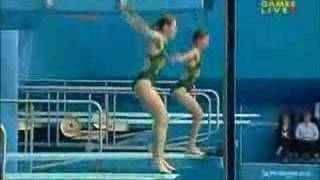Gold Medal 3m Synchro Diving At Commonwealth Games