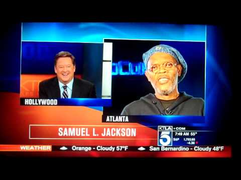 SAMUEL L JACKSON? LAURENCE FISHBURNE? KTLA L.A. reporter SAM RUBIN can't remember 2/10/2014