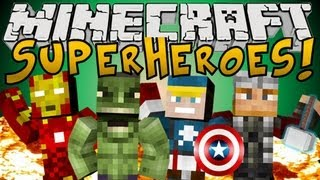Minecraft Mods: Superhero Mod (The Avengers Mod