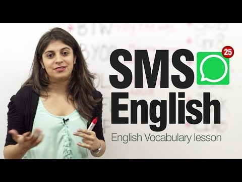 SMS English ( Lesson)  - Modern English abbreviations and Shortened text messages