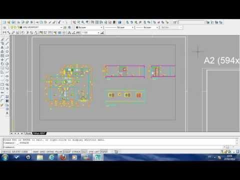 AutoCAD Aula 15 - Formatando a folha de desenho (MODEL SPACE E PAPER SPACE)