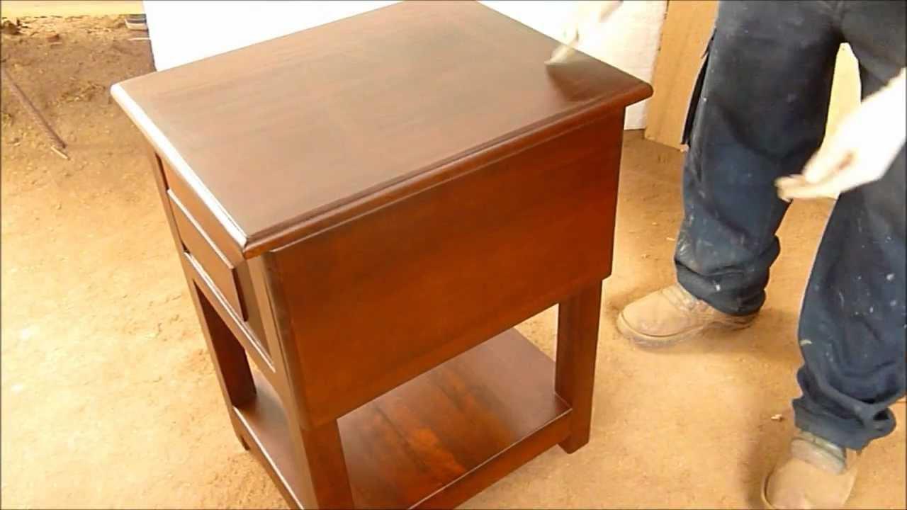 Como pintar mueble de madera o laqueo paso a paso youtube for Colores maderas para muebles