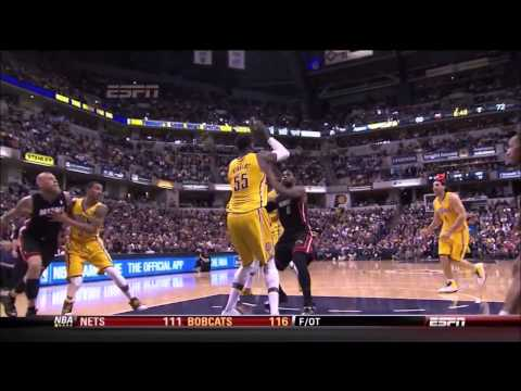 Miami Heat vs. Indiana Pacers: LeBron James Elbow (Flagrant Foul Penalty 1)