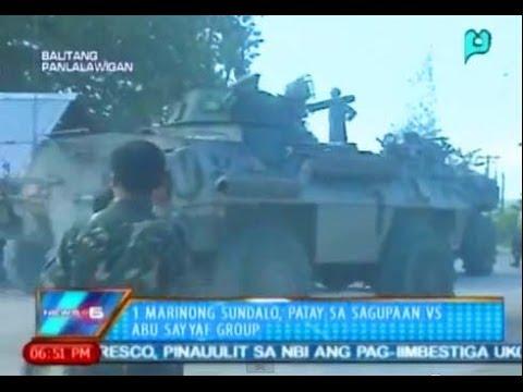 News@6: 1 marinong sundalo, patay sa sagupaan vs. Abu Sayyaf Group