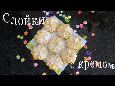 Làm bánh su kem dừa Пирожные с заварным кокосовым кремом hoa Cúc Custard cake Coconut