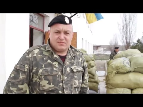 Former Marine Supports His Battalion Blocked by Russian Troops, Feodosia, Crimea