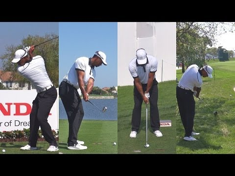 TIGER WOODS 2014 HONDA CLASSIC PRO AM GOLF SWING FOOTAGE - 1080p HD