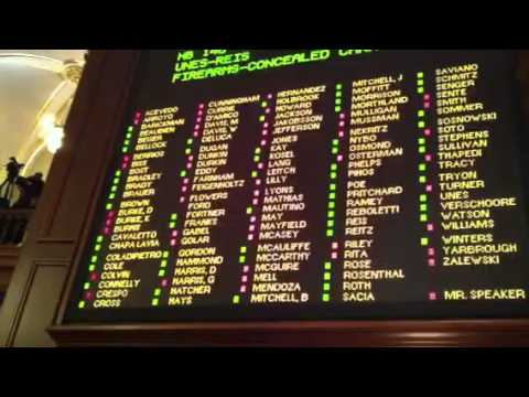 Illinois House Concealed Carry vote -- May 5, 2011