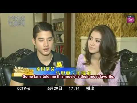 [ENG+CHN SUB] Baifern Pimchanok & Mario Maurer (Cut) @ CCTV-6 World Film Report (June 29, 2013)