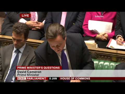 Ed Miliband asks Prime Minister about FOBTs at PMQs