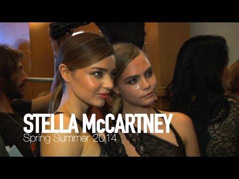 STELLA McCARTNEY Spring Summer 2014 ft Cara Delevingne, Miranda Kerr Backstage | MODTV