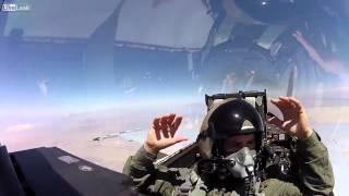 Savaş Uçağı kokpitinden çekilmiş video görüntüleri