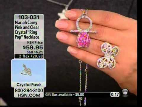 Nick cannon calls wife mariah carey live on hsn youtube for Mariah carey jewelry line claire s