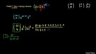 Iskanje člena v potenci binoma