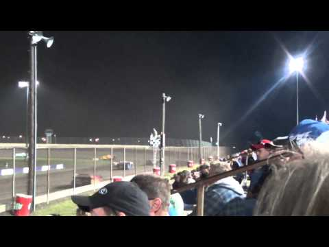 Bobby Pierce Wins Tri City Speedway 2013 Topless Race Super Late Model