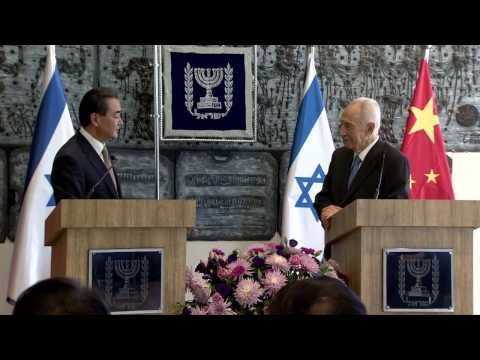 President Peres and the Foreign Minister of China, Mr. Wang Yi joint statements