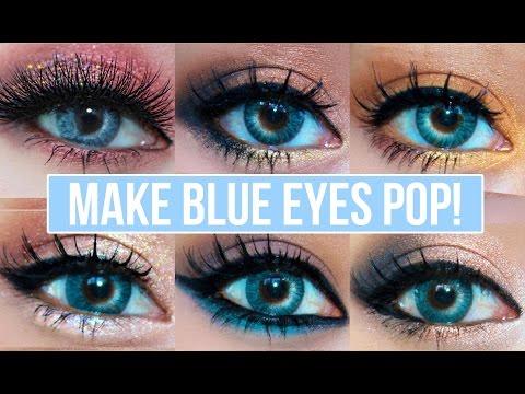 5 makeup looks that make blue eyes pop  youtube