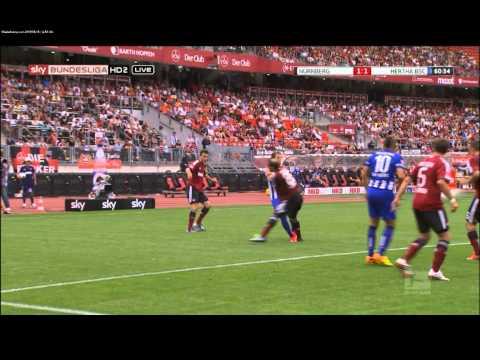 Nürnberg - Hertha 2:2 - 1:1 Allagui 61. Minute - 2. Spieltag 13/14 - 18.08.13