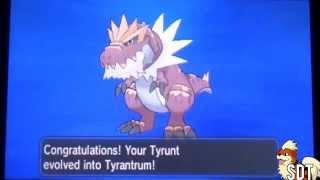 How To Evolve Tyrunt Into Tyrantrum Pokemon X And Y