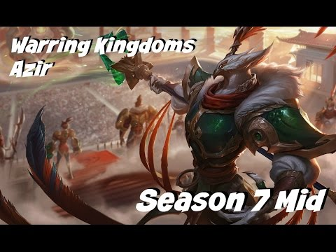 League of Legends: Warring Kingdoms Azir Mid Gameplay