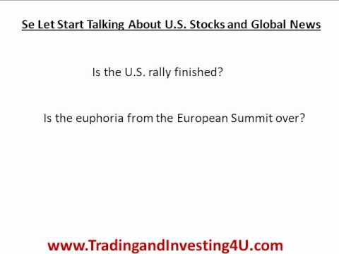 The U.S. Economy and News on Europe. Crazy things going on in the Us Economy