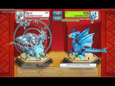 Dragões Puros em Batalha no Dragon City!