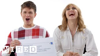 Ansel Elgort & Suki Waterhouse Answer the Web's Most Searched Questions | WIRED
