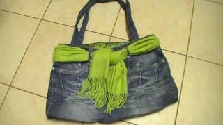 Reciclar pantalones - hacer un Bolso