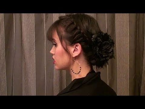 Creative Hairstyles: Halo Braid Updo