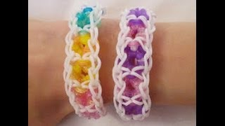 Rainbow Loom- How To Make A Fruit Loop Bracelet (Original