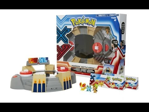 Pok 233 mon x amp y tomy battle arena playset unboxing review giveaway