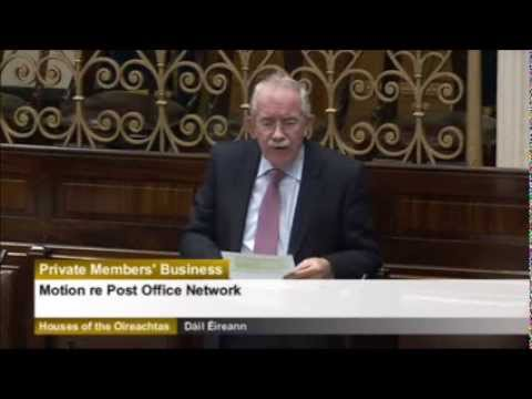 Seamus Healy TD Private Member's Business Motion re Post Office Network 25.02.2014
