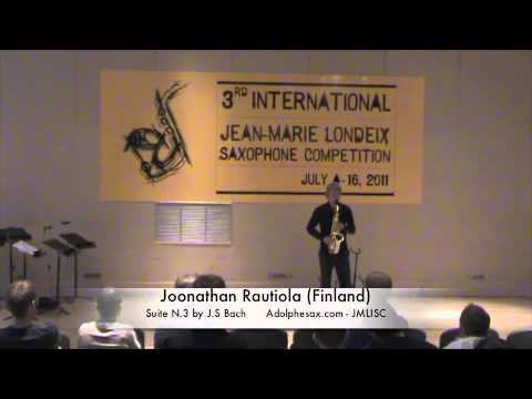 3rd JMLISC: Joonathan Rautiola (Finland) Suite N.3 by J.S Bach