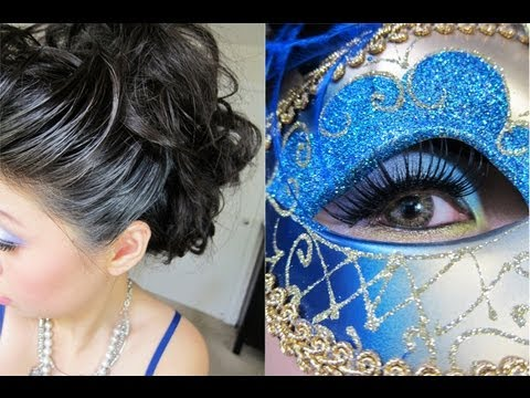 Halloween Tutorial: Elegant Venetian Masquerade Hair ...