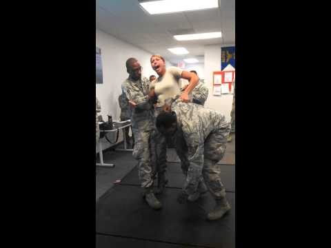 Girl From The Air Force Volunteers To Get Tazed...