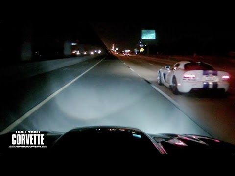 Corvette vs Viper vs Camaro (Late Night Run)