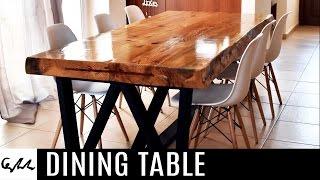 Cómo hacer una mesa de madera natural