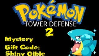 Pokemon Tower Defense 2 Mystery Gift Code Shiny Gible