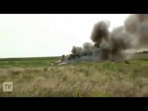 Ukraine crisis: Video 'shows military plane downed'